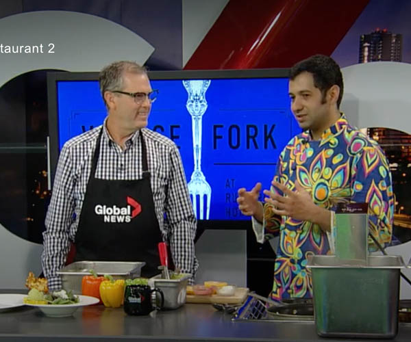 Salar Melli on global news cooking segment featured on global news video